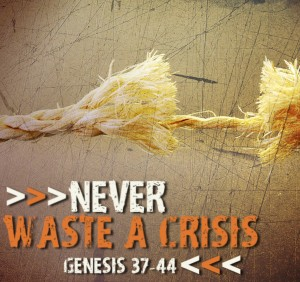 Never Waste a Crisis Web Graphic